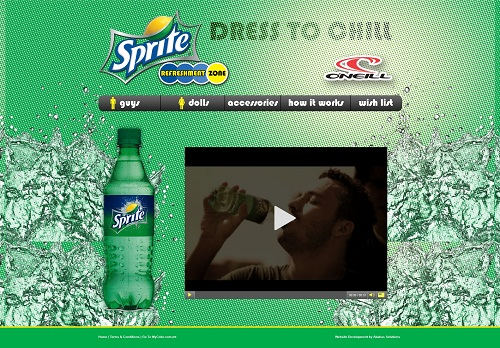 Dress to Chill with MyCoke Sprite Refreshment Zone